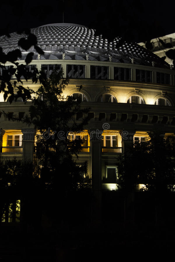 De Opera van Novosibirsk en Ballettheater royalty-vrije stock foto's