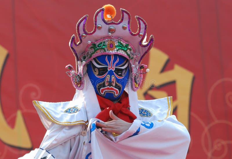 De opera van Sichuan, het Veranderen Faces_3 stock fotografie