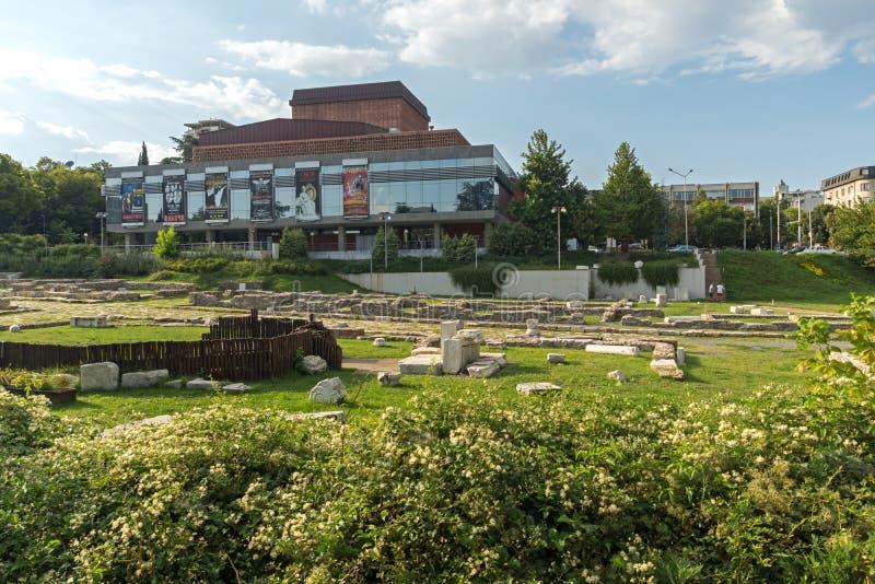 De Opera van de staat in het centrum van stad van Stara Zagora, Bulgarije royalty-vrije stock fotografie