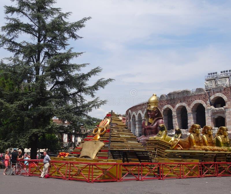 De opera van Verona stock afbeeldingen