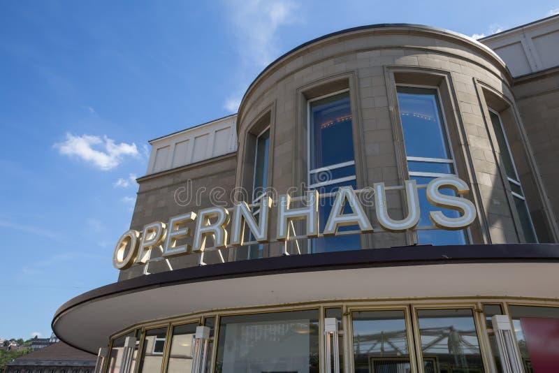 De opera van Wuppertal in Duitsland stock afbeeldingen