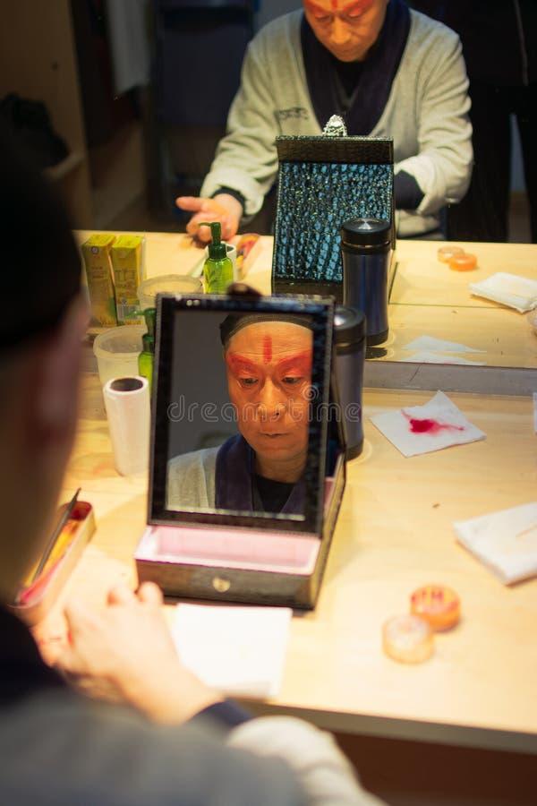 De Operaacteur van Peking stock fotografie