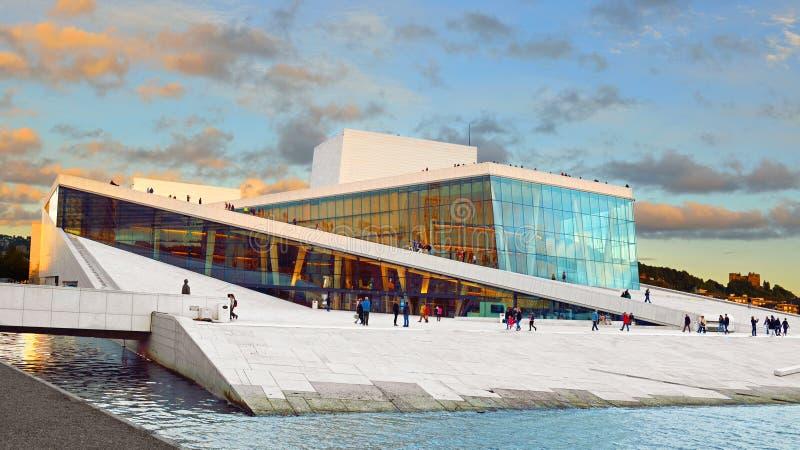De Operahuis Operahuset van Oslo royalty-vrije stock fotografie