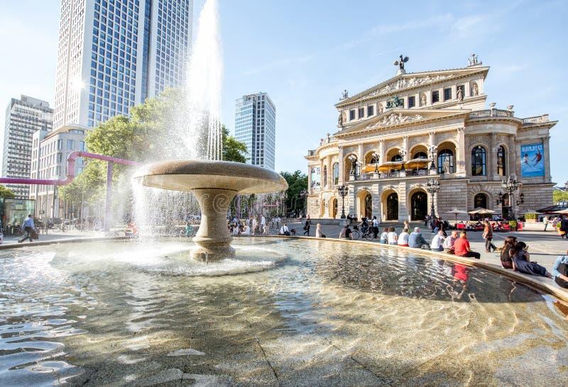 De operahuis van Frankfurt stock fotografie