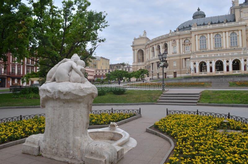 De operahuis van Odessa stock fotografie