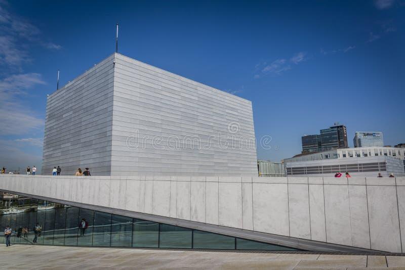 De Operahuis van Oslo, Oslo, Noorwegen royalty-vrije stock afbeeldingen