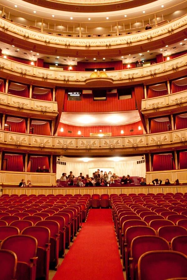 De Operahuis van Wenen, Oostenrijk stock afbeelding