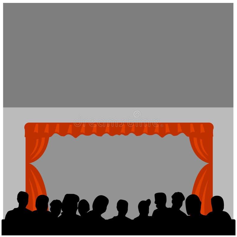 De opkomst van het theater royalty-vrije illustratie