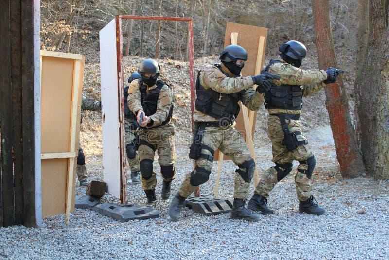 De opleiding van de politie stock foto's