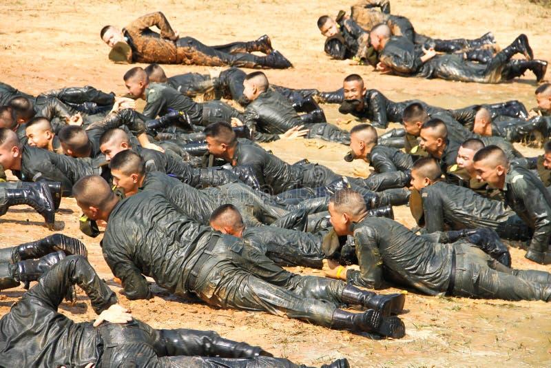 De opleidings militaire student van de leraar royalty-vrije stock afbeelding