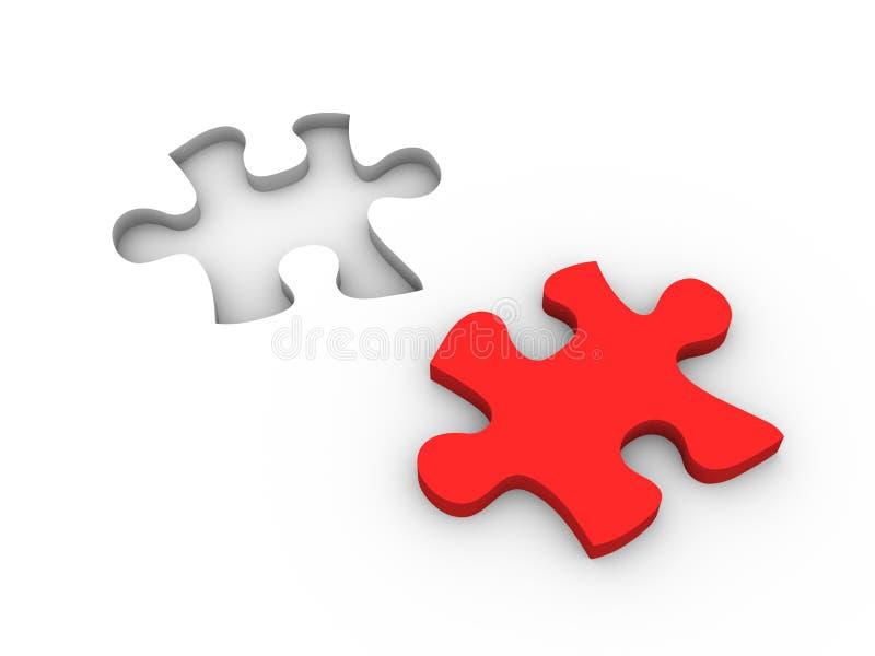 De oplossing van het raadsel stock illustratie