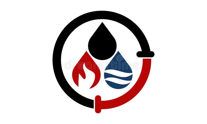 De Oplossingen van de het Gaspijp van het oliewater royalty-vrije illustratie