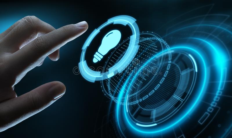 De Oplossings van de bedrijfs Gloeilampeninnovatie Technologieconcept stock illustratie