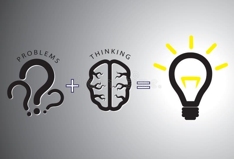 De oplossingsconcept dat van het probleem - het oplost die hersenen gebruikt royalty-vrije illustratie