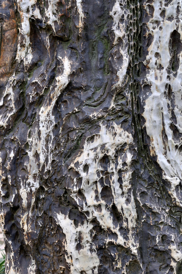 De Oppervlakte, De Kleur En De Textuur Van De Steen Stock Fotografie