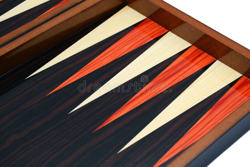 De oppervlakte van de backgammonlijst in detail royalty-vrije stock fotografie