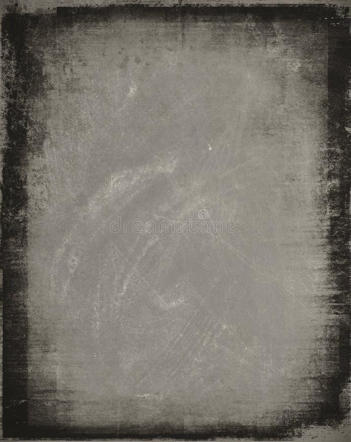 De oppervlakte van de kras met grens royalty-vrije illustratie