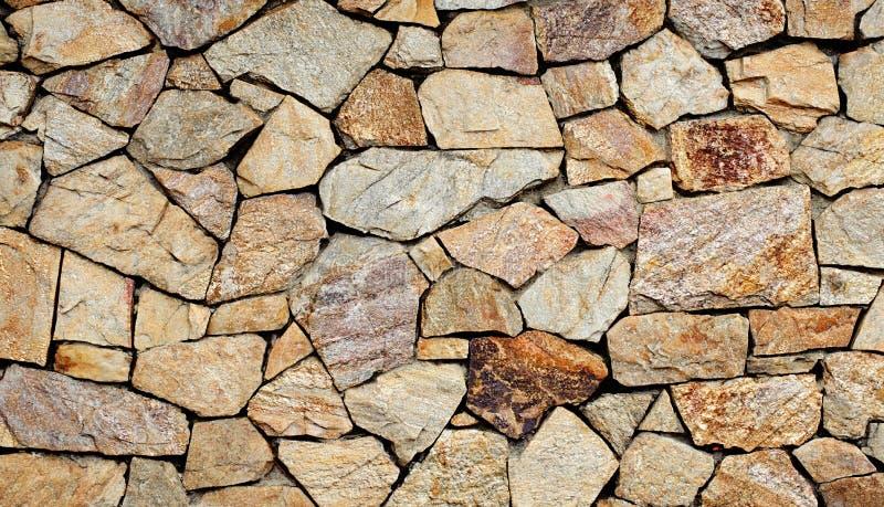 De oppervlakte van de steenmuur met cement royalty-vrije stock fotografie