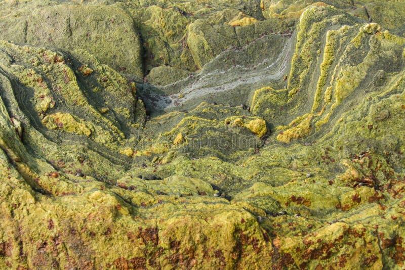 De oppervlakte van een bevlekte steen Beschermend patroon voor kleren stock foto