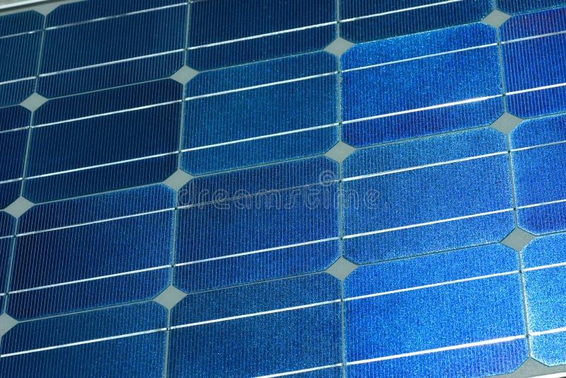 De oppervlakte van het zonnepaneel stock afbeelding