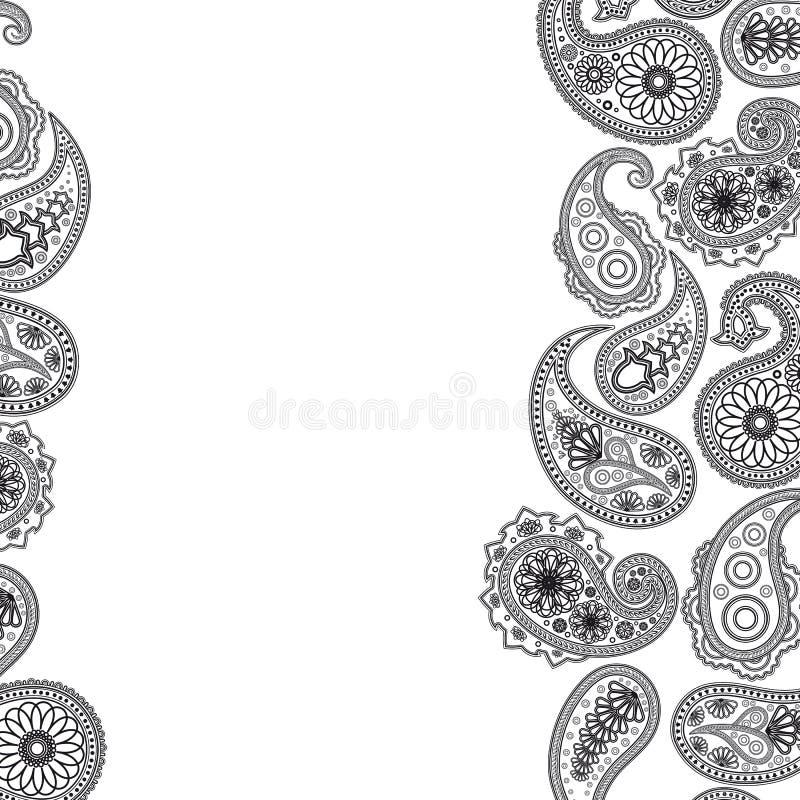 De oppervlakte van Paisley. royalty-vrije illustratie