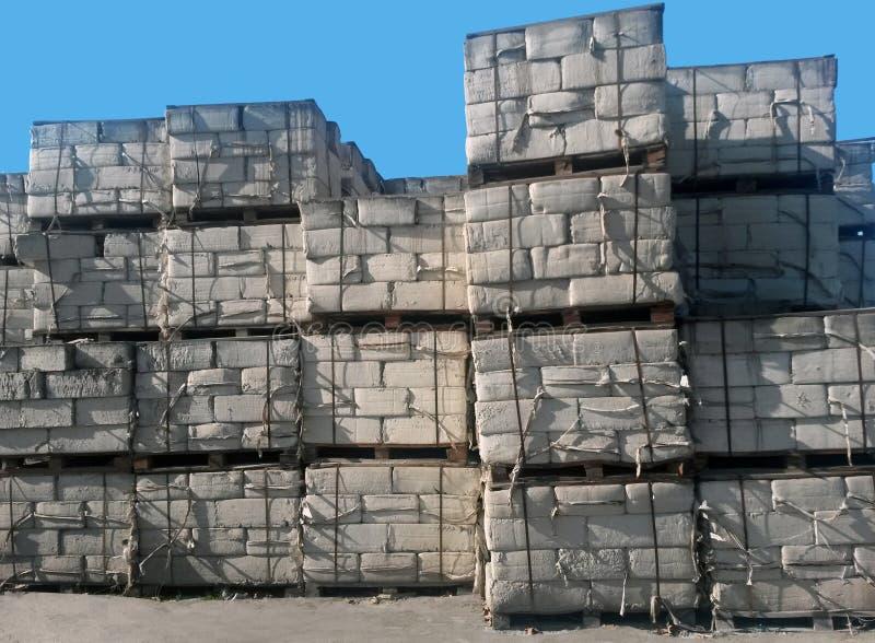 De opslag van asbestpakketten royalty-vrije stock foto's