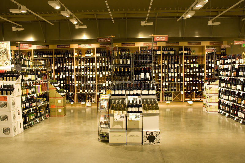 De opslag van de alcohol royalty-vrije stock foto's