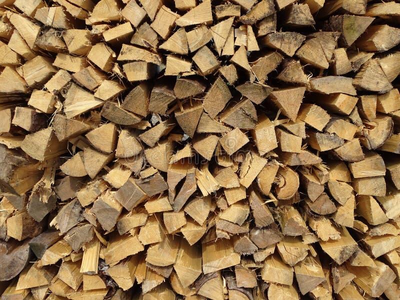 De opslag van de brandhoutbuitenkant stock afbeeldingen