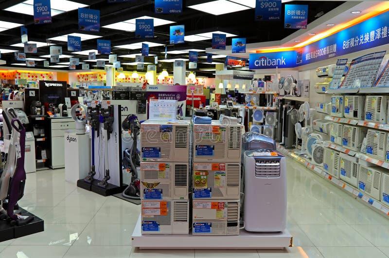 De opslag van de elektronikatoestellen van de consument stock afbeelding