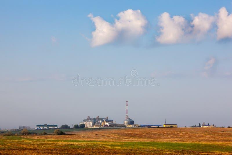 De opslag van de installatiekorrel het drogen van korrels, tarwe, graan stock foto's