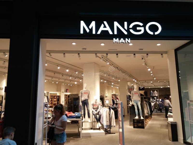 De opslag van de mangomens stock afbeelding