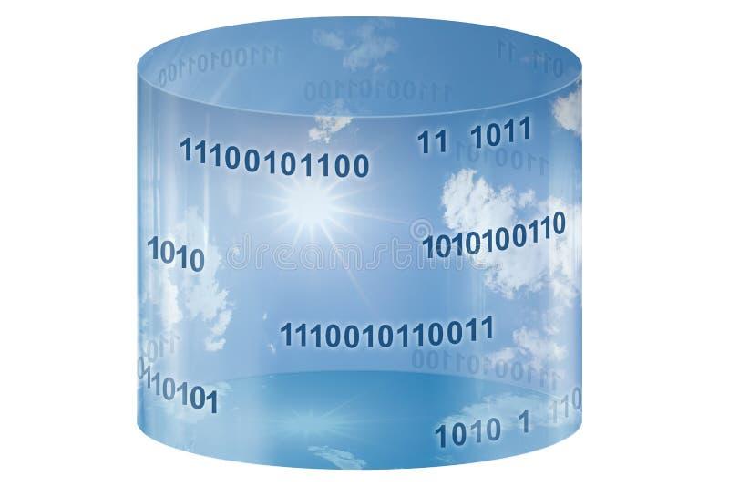 De opslag van het gegevensbestand & wolk gegevensverwerking royalty-vrije illustratie