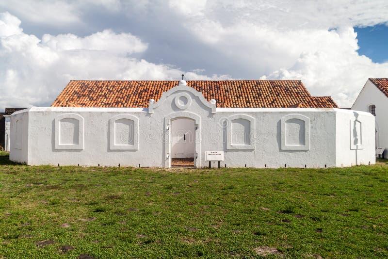 De opslag van het kanonpoeder in St Joseph Sao Jose vesting in Macapa, Braz royalty-vrije stock afbeelding