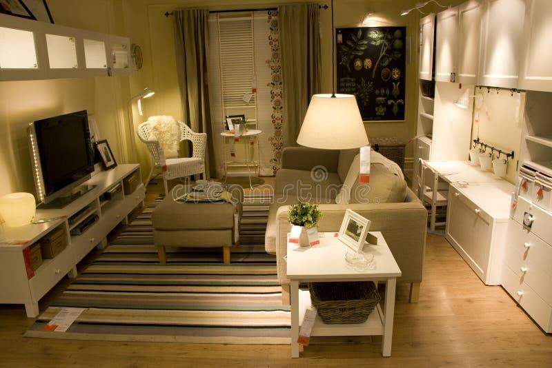 De opslag van het woonkamermeubilair royalty-vrije stock foto