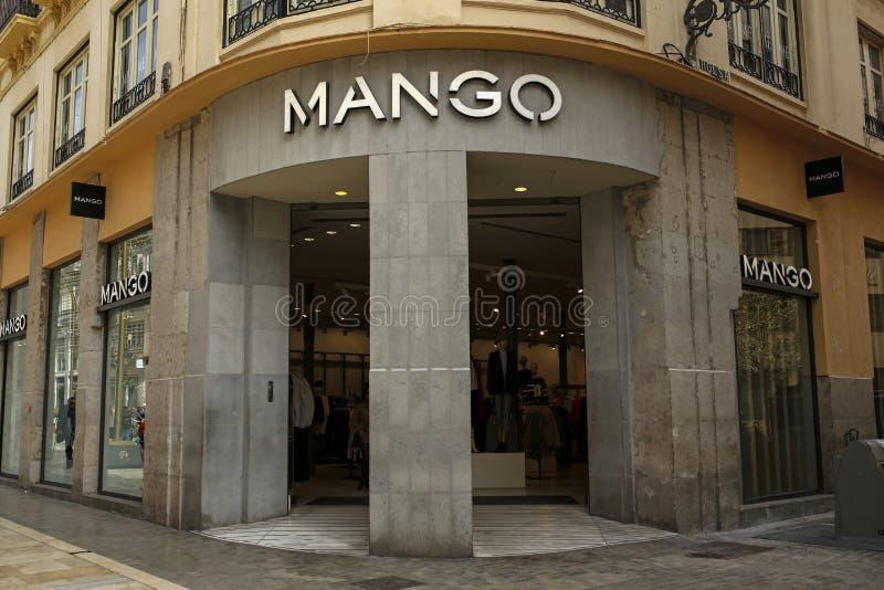 De opslag van de mangomanier in Malaga Spanje royalty-vrije stock fotografie