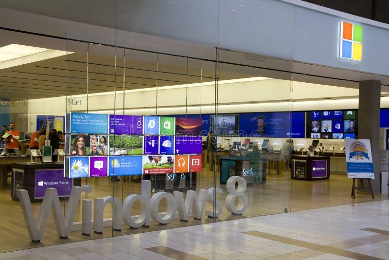 De opslag van Microsoft in Vierkante Wandelgalerij Bellevue royalty-vrije stock afbeelding