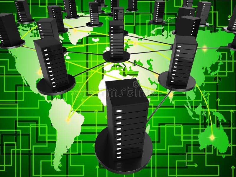 De Opslag wereldwijd betekent Wereldlijke Globalisering en Globalise vector illustratie