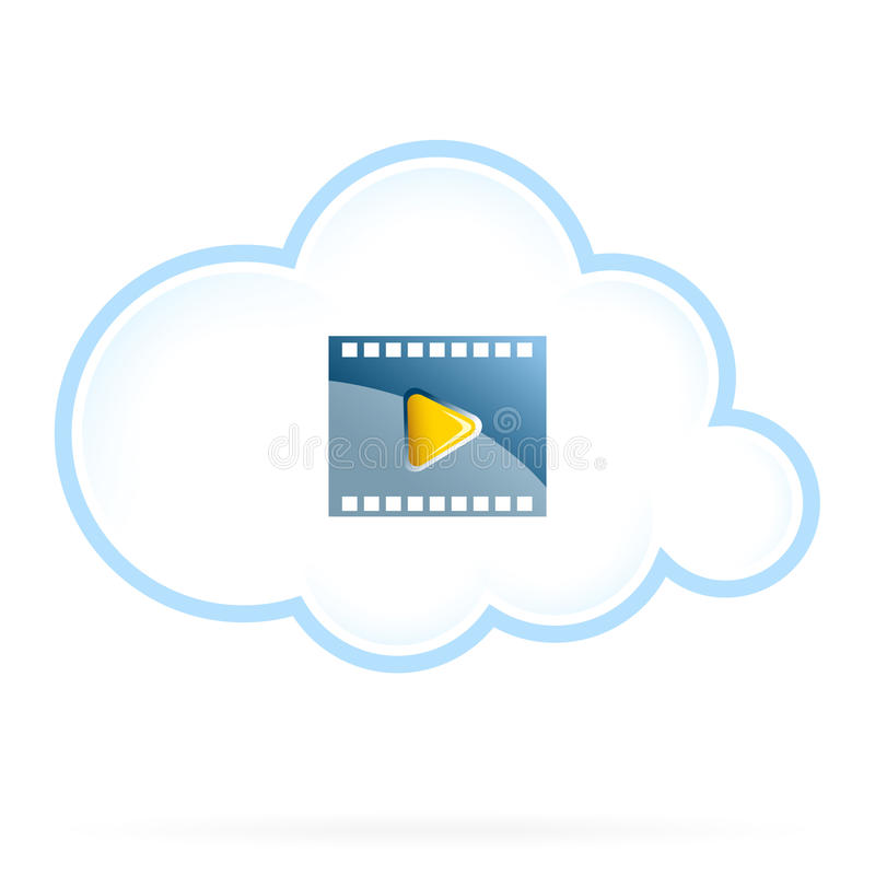 De Opslagpictogram van de wolkenfilm stock illustratie