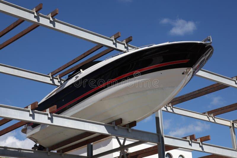 De opslagrek van de boot stock afbeeldingen