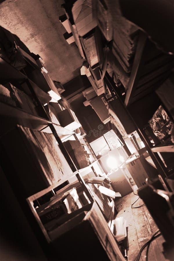 De opslagruimte van Grunge royalty-vrije stock foto's