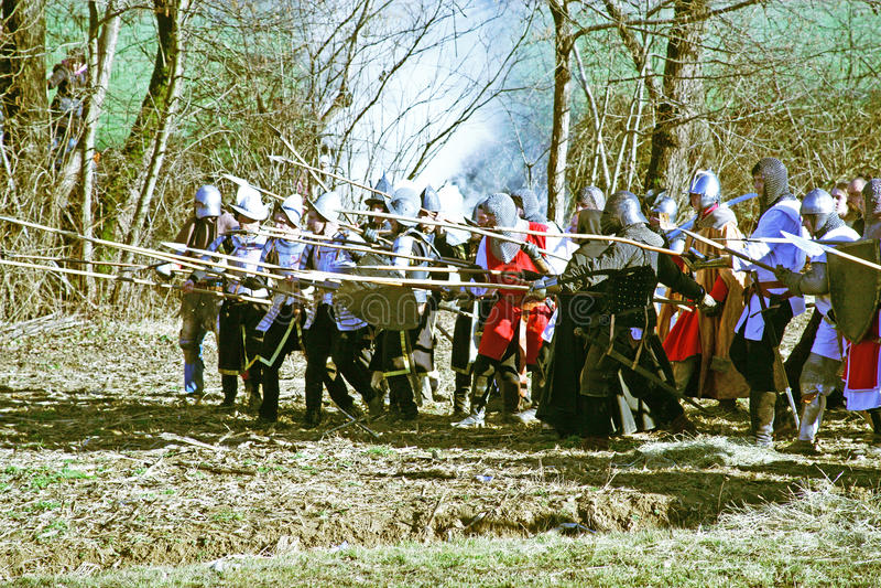 De opstand a van boeren D 1573 , het weer invoeren van de definitieve slag, 9, Donja Stubica, Kroatië, 2016 royalty-vrije stock afbeelding