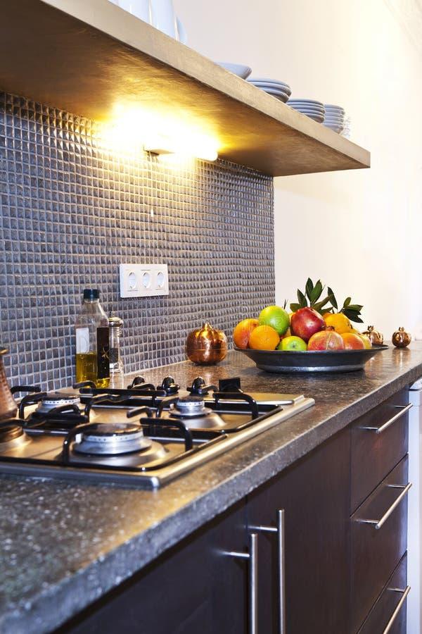 De Opstelling van de keuken stock afbeeldingen