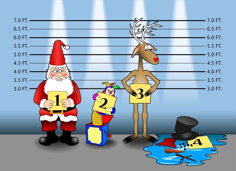 De opstelling van Kerstmis vector illustratie