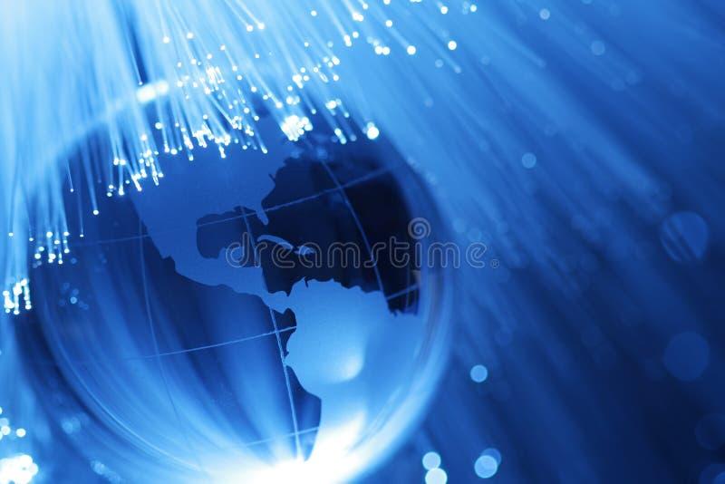 De optica van de aarde & van de vezel royalty-vrije stock foto's