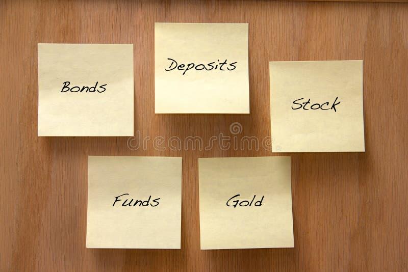 De opties van de investering stock afbeeldingen