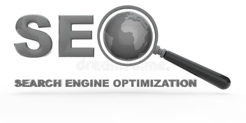 De Optimalisering van de Motor van het onderzoek vector illustratie