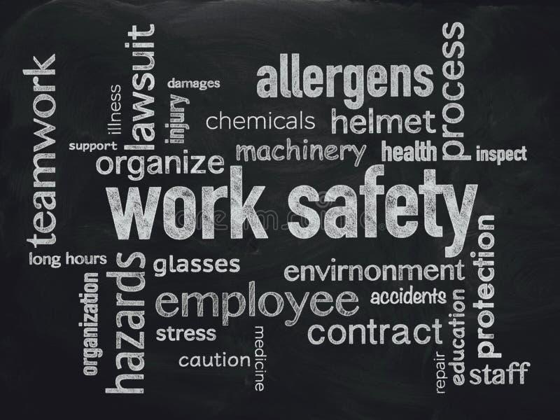 De optimalisering van de het werkveiligheid voor uw zaken stock illustratie