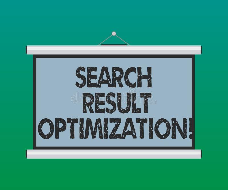 De Optimalisering van het het Zoekenresultaat van de handschrifttekst Concept die kwekend zicht in Draagbare de Spatie van zoekma stock illustratie