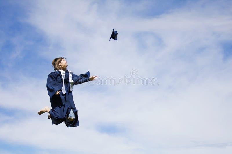 De Opwinding van de graduatie stock foto's