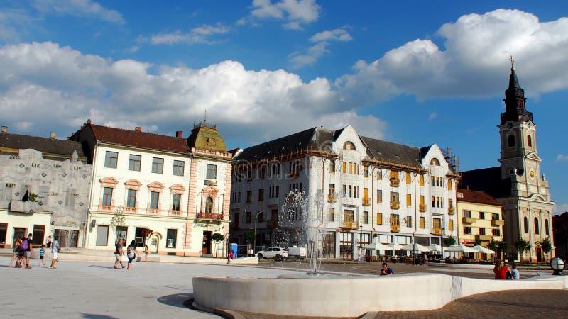 De Oradea ciudad abajo fotos de archivo